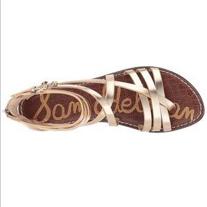 75a35b0a3b2d Sam Edelman Ganesa gold leather sandal